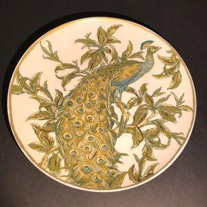Pottery Barn Peacock Plate